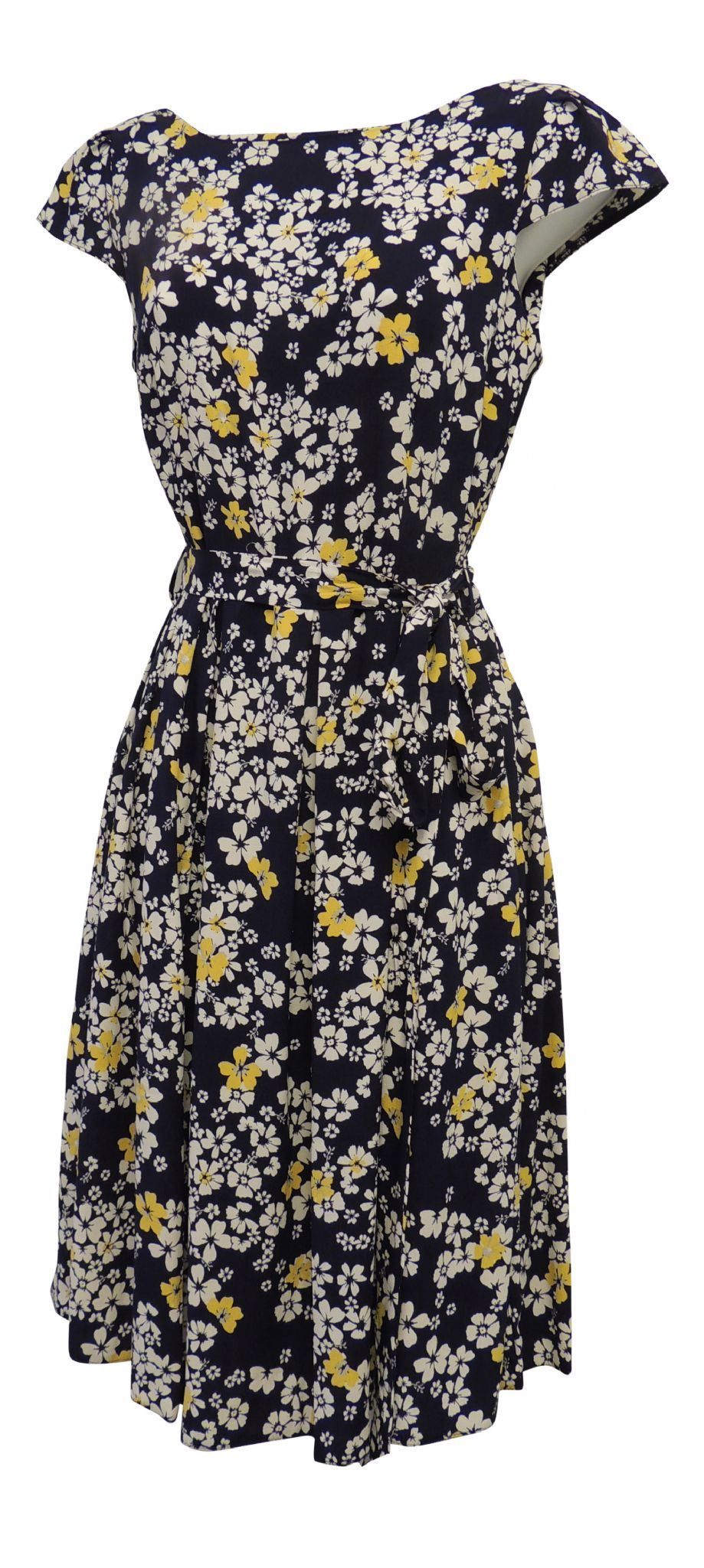 New Ladies Ditsy Floral WWII 1930/'s//1940/'s Vtg style Land Girl Swing Tea Dress