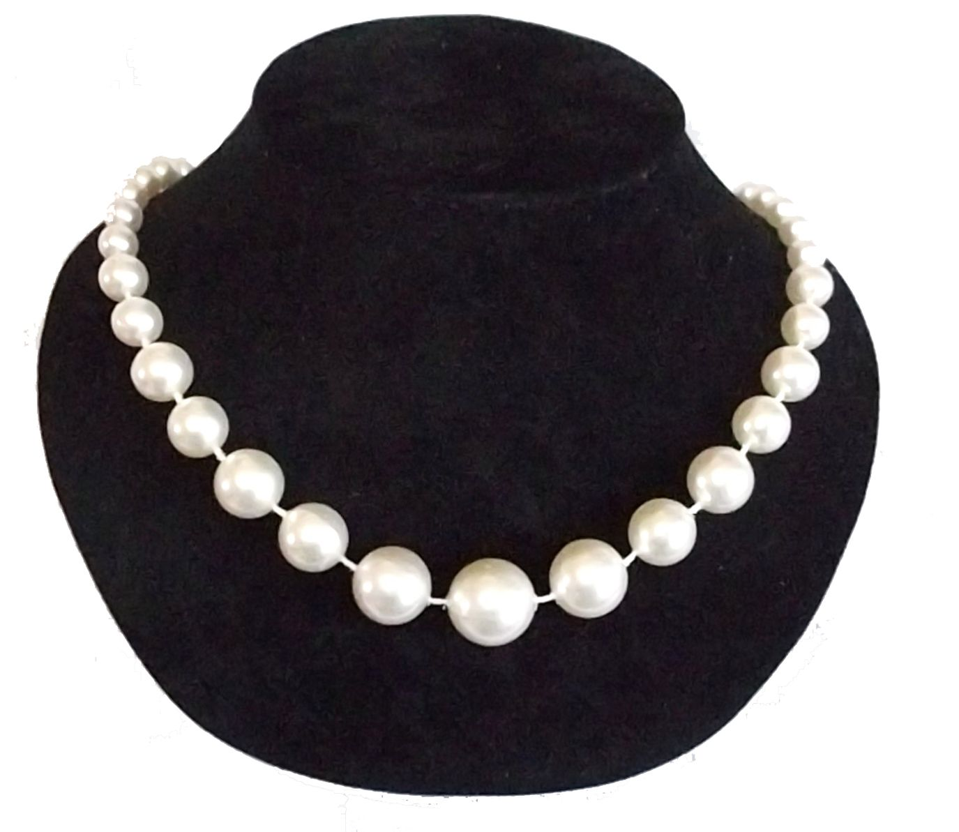b7f4d0fb2ea87 New Vintage 1950's Style Faux Pearl graduated beads Necklace